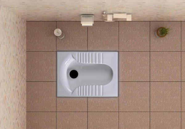 توالت ایرانی مدل پارمیس شرکت گلسارفارس کد 1102